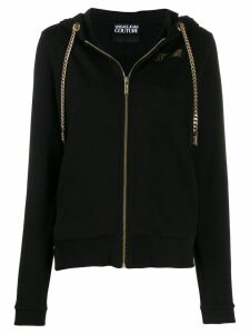 Versace Jeans Couture chain detail hoodie - Black