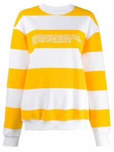 Calvin Klein Jeans Est. 1978 stripe-print logo sweatshirt - White