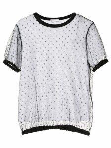 RedValentino REDValentino mesh T-shirt - White