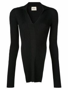 Khaite turnover collar jumper - Black