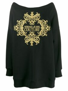 Versace Jeans Couture oversized knitted jumper - Black