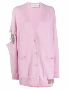 Christopher Kane embellished cut-out cardigan - PINK