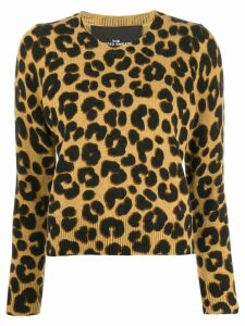 Marc Jacobs leopard print sweater - Brown