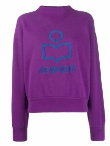 Isabel Marant Étoile high-neck logo sweatshirt - Purple