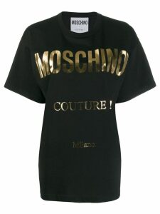 Moschino oversized logo T-shirt - Black
