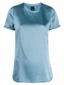 Pinko satin stretch T-shirt - Blue