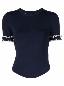 Jonathan Simkhai ruffled sleeve jumper - Black