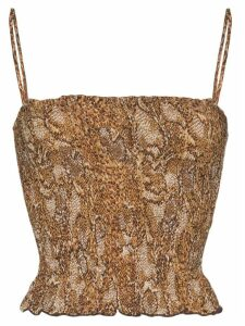 Nanushka Matea snake print top - Brown