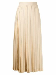 The Row long pleated skirt - NEUTRALS