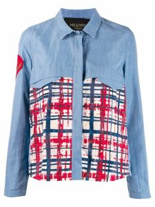 Mr & Mrs Italy check print shirt - Blue
