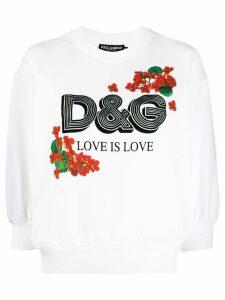 Dolce & Gabbana Love printed sweatshirt - White