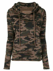 Nili Lotan camouflage print hoodie - Brown