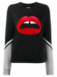 Markus Lupfer lipstick lips sweatshirt - Black