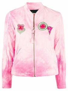 Mr & Mrs Italy embroidered patch jacket - PINK