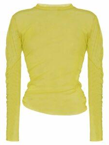Supriya Lele ruched mesh top - Yellow