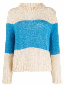 Semicouture contrast stripe jumper - Blue