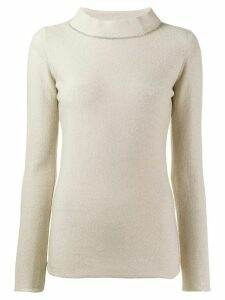 Fabiana Filippi slim-fit knitted top - NEUTRALS