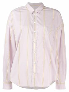 Closed striped button shirt - PINK