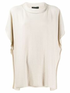 Fabiana Filippi oversized knitted top - NEUTRALS