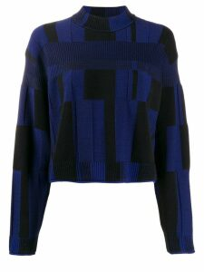 Proenza Schouler patchwork plaid jumper - Blue