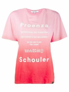 Proenza Schouler White Label printed logo gradient T-shirt - PINK