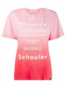Proenza Schouler tie-dye T-shirt - Pink