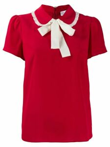 RedValentino collar bow top