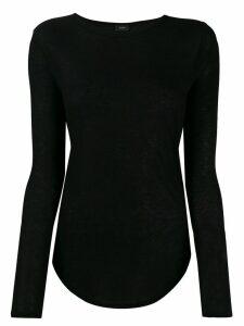 Joseph fitted knit jumper - Black