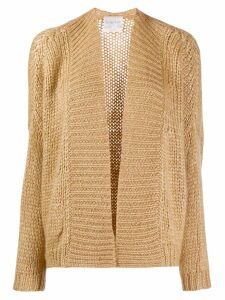 Forte Forte knitted long sleeve cardigan - NEUTRALS