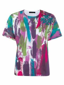 Mr & Mrs Italy abstract print T-shirt - PURPLE