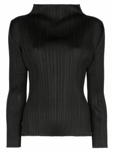 Pleats Please Issey Miyake plissé pleated top - Black