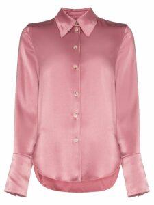 Nanushka Mandine western satin shirt - PINK