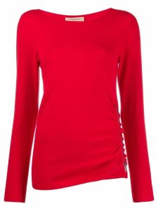 Twin-Set zip detail jumper - Red