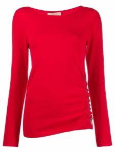 Twin-Set zip detail jumper - Red