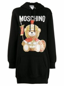 Moschino teddy soldier hoodie - Black