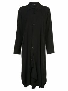 Y's drape shirt dress - Black