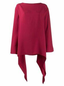 Alberta Ferretti curved oversized top - Red