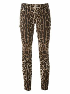 Dolce & Gabbana leopard print trousers - Brown