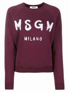 MSGM printed logo sweatshirt - Red