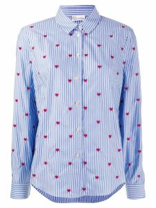 Red Valentino heart embroidered Oxford shirt - Blue