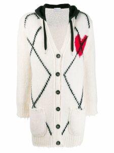 RedValentino argyle knitted cardigan - NEUTRALS
