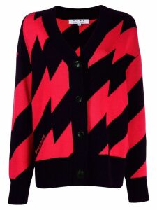 Proenza Schouler zigzag knitted cardigan - Red