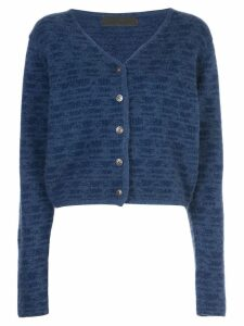 The Elder Statesman static knit cashmere cardigan - Blue