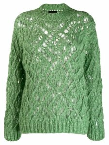 Stine Goya Alexa open-knit jumper - Green