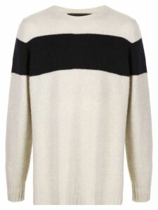 The Elder Statesman Striped Racing cashmere sweater - Neutrals