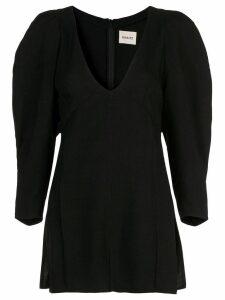 Khaite side slit blouse - Black