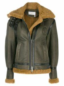 Chloé shearling aviator coat - Green