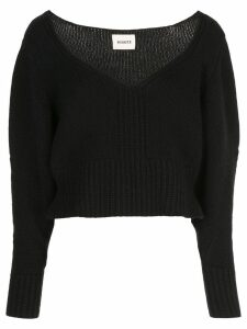 Khaite cable knit jumper - Black