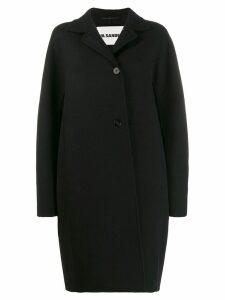 Jil Sander oversized single-breasted coat - Black