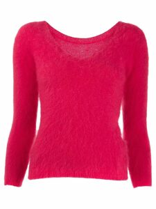 Roberto Collina slim-fit V-back jumper - Red